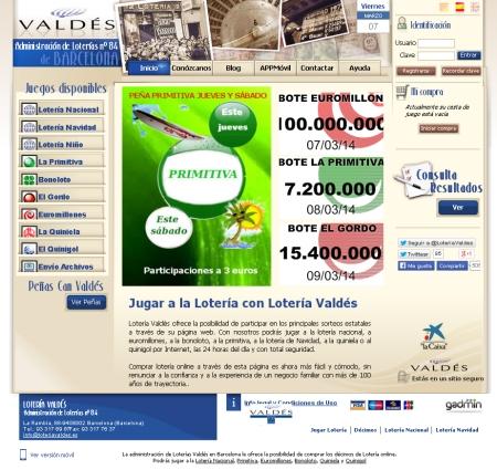 loteria valdes - pantallazo