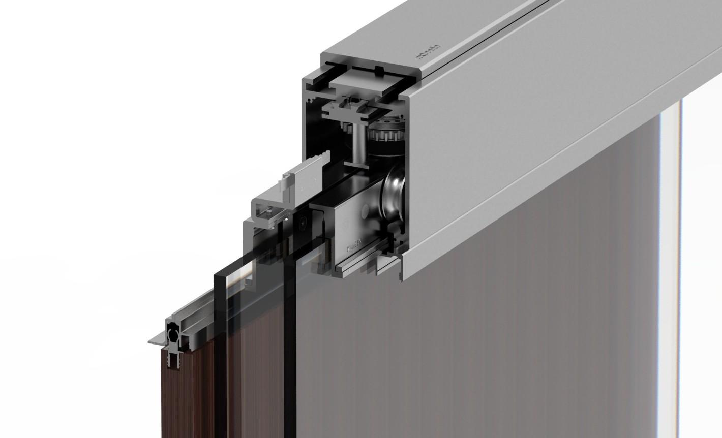Extendo sistema telesc pico en puertas correderas de cristal - Sistema puerta corredera ...